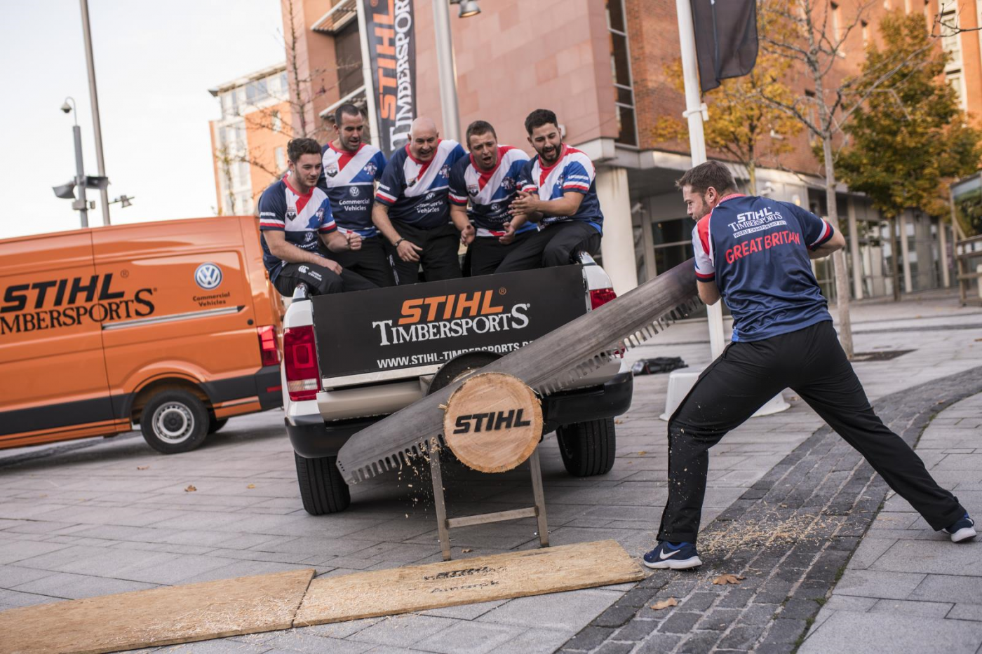 d6a8e65056 Volkswagen Commercial Vehicles provided fleet support for the STIHL  TIMBERSPORTS® World Championship held in the UK for the very first time  this weekend at ...