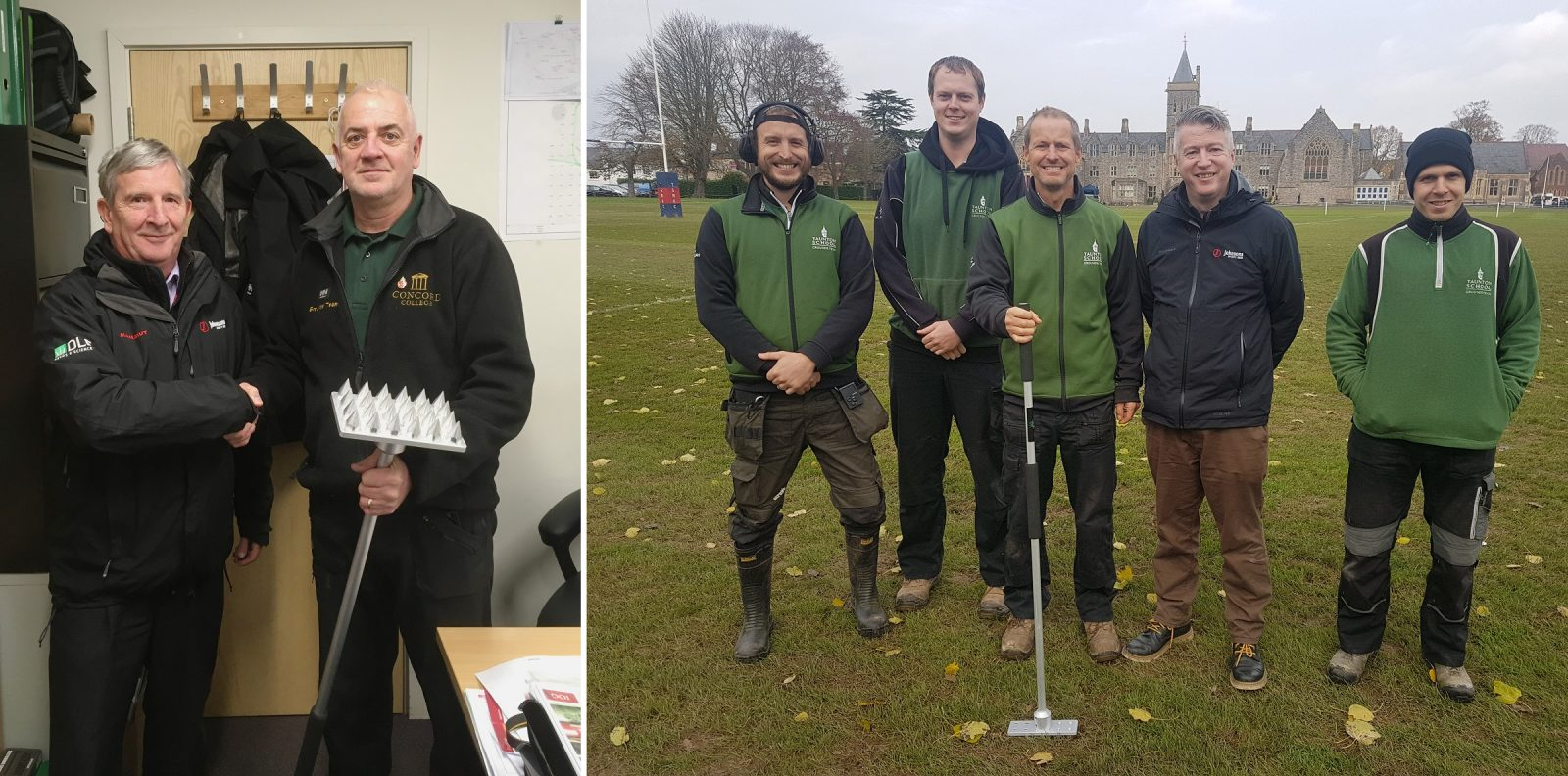 Paul Humphreys at Concord College, Shrewsbury and Taunton Schools' Mark Jolliffe have been announced as the winners of the DLF/Johnsons Sports Seed ForthRoots Competition at SALTEX 2019.