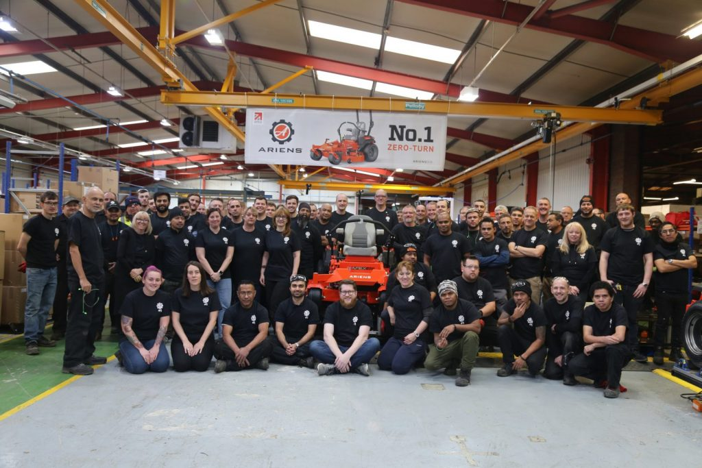 first zero-turn mower to be manufactured in Europe