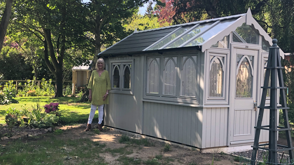half shed/half greenhouse